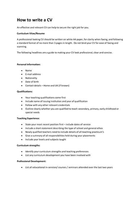So how do you write a cv? How to write a CV? - Fotolip.com Rich image and wallpaper