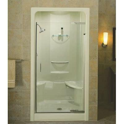 Glass Door For Fiberglass Shower by Pivot Glass Door On Acrylic Shower Bathrooms
