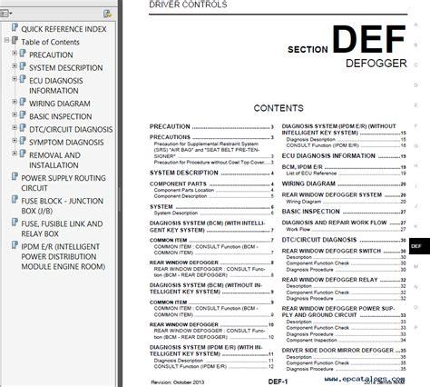 online car repair manuals free 2002 nissan sentra interior lighting nissan sentra model b17 series 2014 service manual pdf