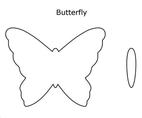 butterfly template  preschool
