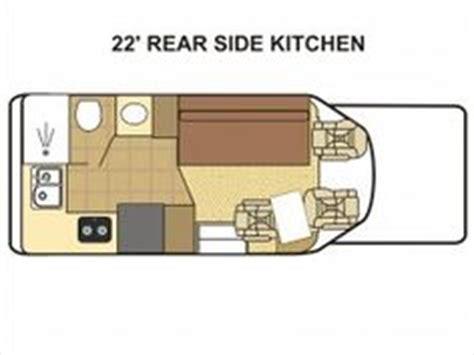 rear kitchen rv floor plans the 2 slide outs 24sr class c diesel motorhomes 7642