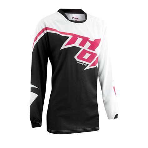 thor motocross jersey thor ladies mx gear 2015 phase tilt black pink motocross
