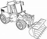 Bulldozer Jcb Backhoe sketch template