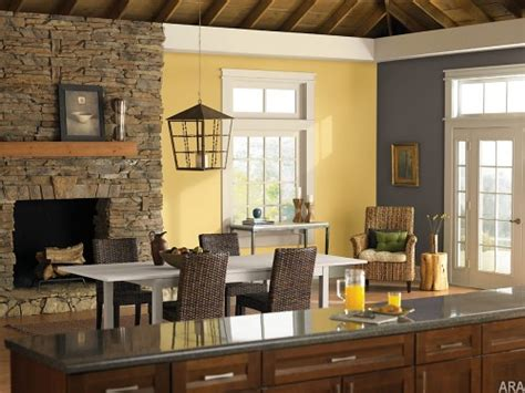 Yellow And Cathedral Gray Kitchen