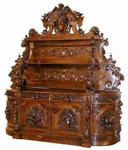 Alexander, Roux, Carved, Victorian, Sideboard