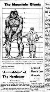 Image result for bigfoot....newspaper article 1969