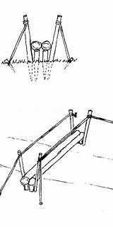 Bridge Suspension Bridges Drawing Rope Picket Getdrawings Foot sketch template