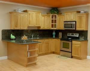 Oak Kitchen Cabinets with Granite Countertops