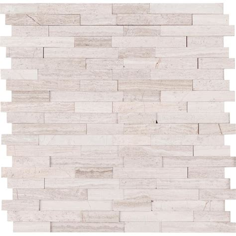 white peel and stick tile msi white quarry interlocking 3d peel and stick 12 in x