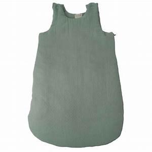 Bleu Vert D Eau : gigoteuse b b chaude en mousseline de coton vert d 39 eau ~ Preciouscoupons.com Idées de Décoration
