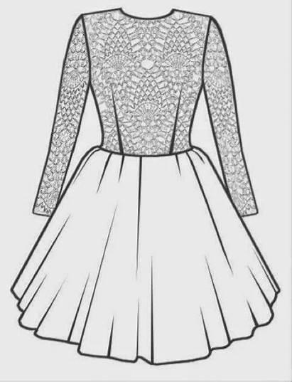 Vestido Hacer Molde Encaje Vestidos Dibujo Ropa