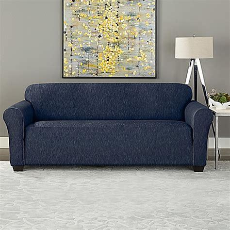 covers bed bath and beyond sure fit 174 designer denim furniture slipcover bed bath