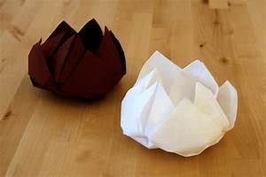 Pliage De Serviette En Tissu : pliage de serviettes en fleur de lotus il est ~ Nature-et-papiers.com Idées de Décoration