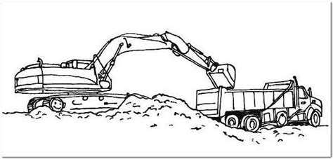 excavator coloring page drawing board weekly