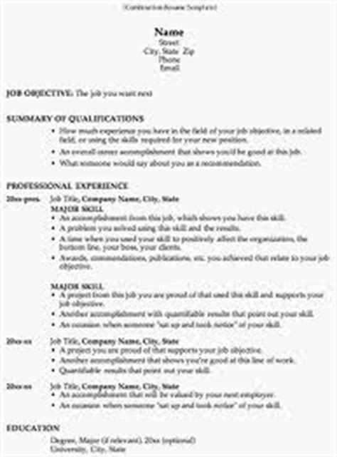 an overview of the combination resume format
