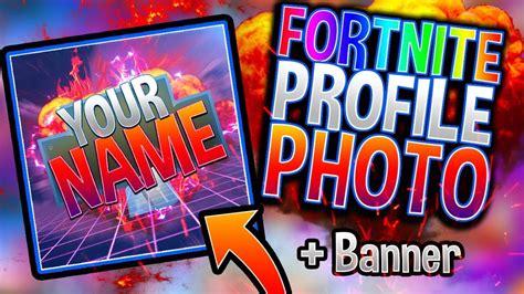 fortnite profile photo banner template photoshop