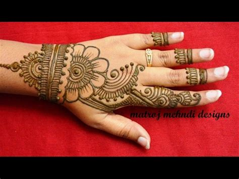simple easy mehndi henna designs  hands mehndi designs