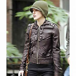 Keira Knightley Brown Leather Jacket - Filmstaroutfits.com