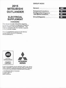 2015 Mitsubishi Outlander Wiring Diagram Manual Original