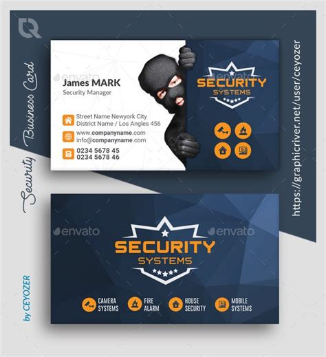 security business card templates  images card
