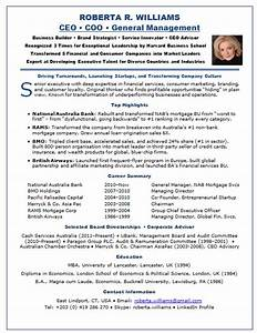 resume samples chief executive officer ceo banking finance With ceo resume sample
