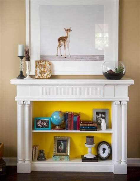 cozy faux fireplace  mantel decor ideas shelterness