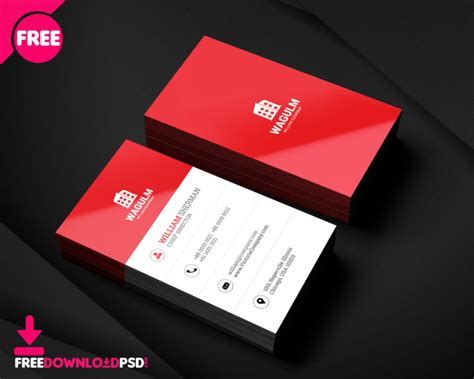minimalistic business card freedownloadpsdcom