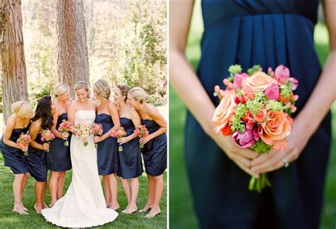 Flower Advice!! What Flowers W/ Navy Bridesmaid's Dresses