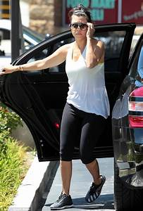 Kourtney Kardashian stops for gas while chauffeuring her mother Kris Jenner around | Daily Mail ...