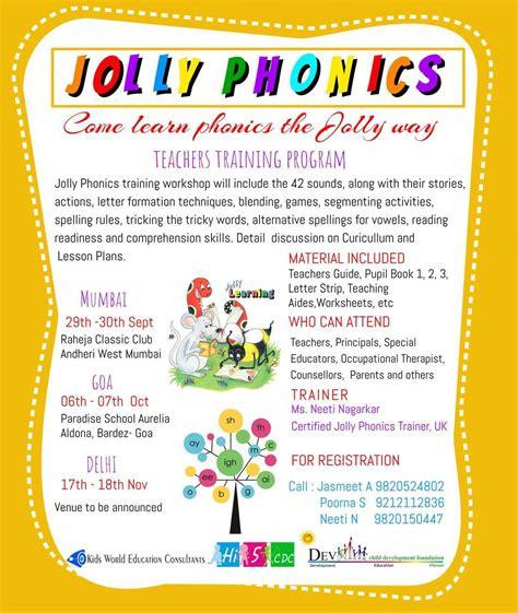 jolly phonic workshop    child development center mumbai