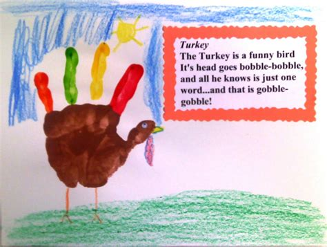crafts  preschoolers hand turkey