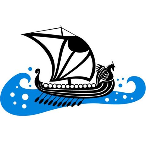 Barco Vikingo Animado by Viking Boat On Rough Sea Vector Free Download
