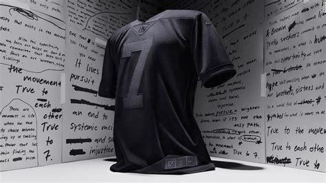 nikes  black colin kaepernick jersey marking  years