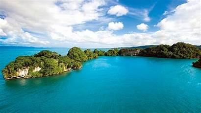 Dominican Republic Turquoise Sea Background Oceanscape Desktop