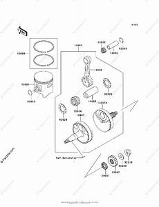Kawasaki Motorcycle 2007 Oem Parts Diagram For Crankshaft