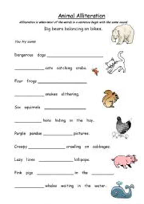 Animal Alliteration  Esl Worksheet By Kfretwell