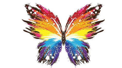 Abstract, Butterfly, Paint Splatter, White Background