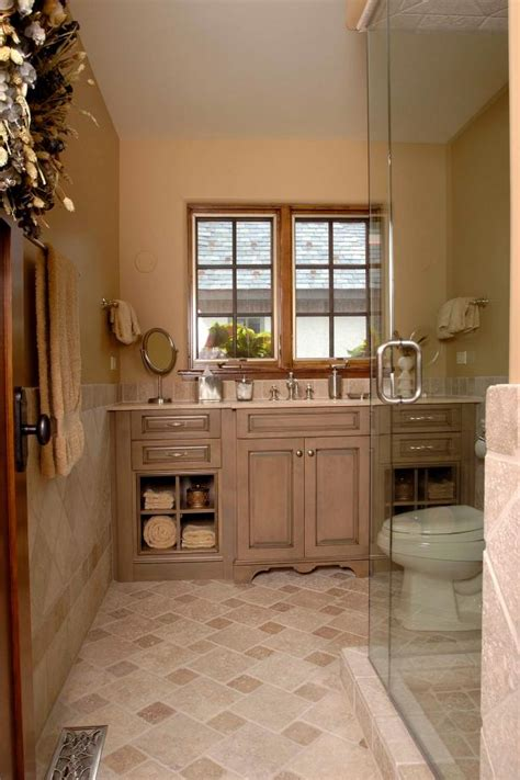 traditional bathroom  custom vanity hgtv