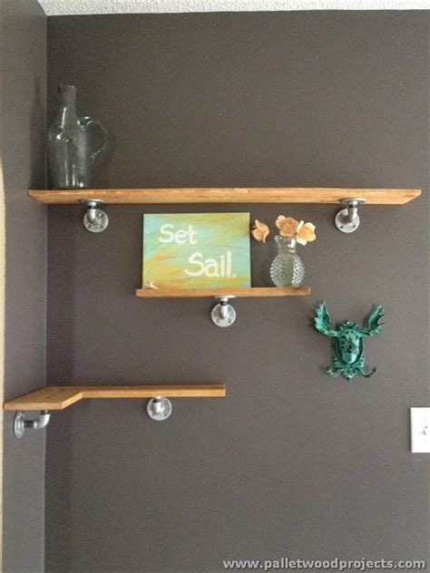 wood corner shelves ideas for wooden pallet shelves pallet wood projects Diy