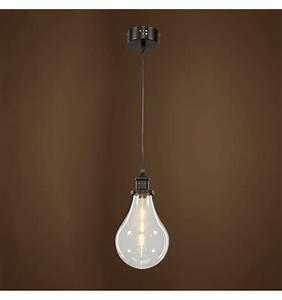 Suspension Luminaire En Verre Transparent : lampe suspendue minimaliste en verre transparent spark ~ Teatrodelosmanantiales.com Idées de Décoration