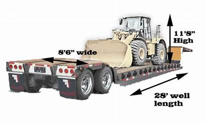 Trailer Dimensions Rgn Drop Double Tractor Flatbed