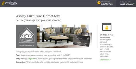 furniture login furniture credit card login
