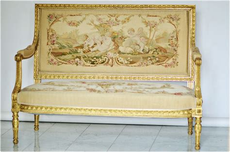 settees ebay aubusson upholstered antique settee sofa 4 chairs