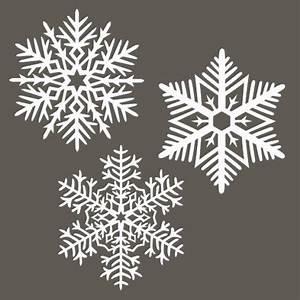 Flocon De Neige En Papier Facile Maternelle : set de 3 flocons de neige papier washi 4107 ~ Melissatoandfro.com Idées de Décoration