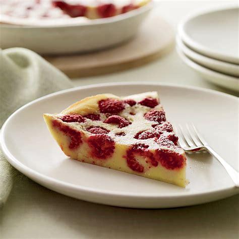 cuisine dessert raspberry clafoutis recipe alix de montille jean marc