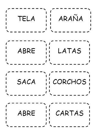 Material Pedagógico: Memorice de Palabras Compuestas