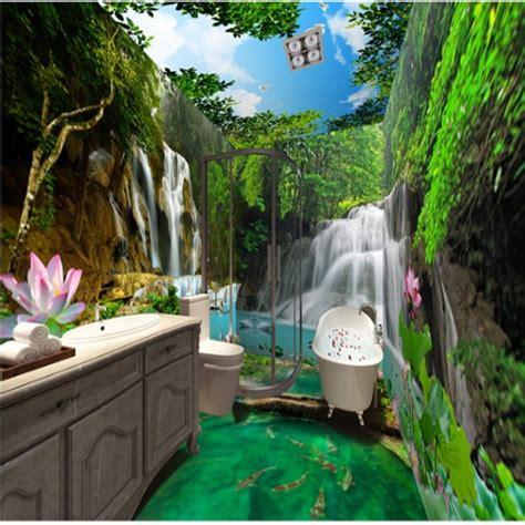 vivid waterfalls   lush forest scenery pattern