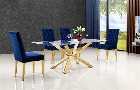 navy blue kitchen table set blue table 716 meridian furniture dining room sets