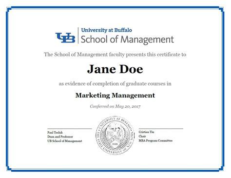 certificates school  management university  buffalo