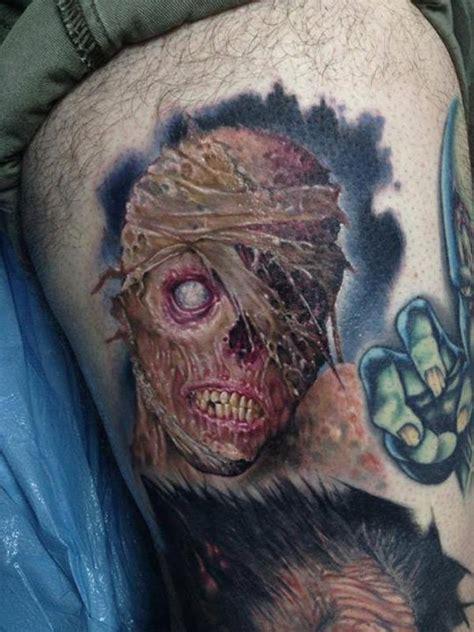 scary zombie tattoos ideas  zombie face tattoo